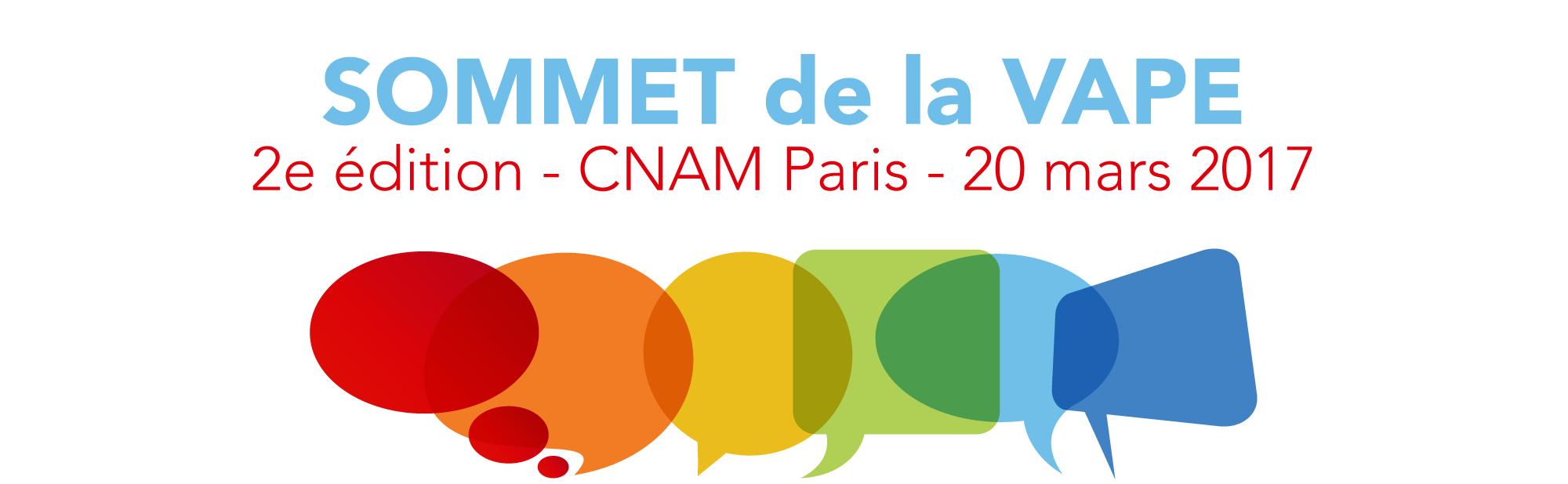 2 sommet de la vape le 20 mars 2017 au CNAM Paris