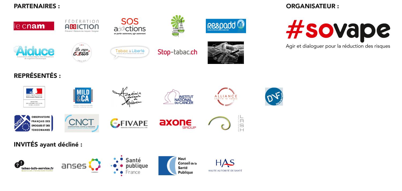Associations partenaires du Sommet de la Vape 2017